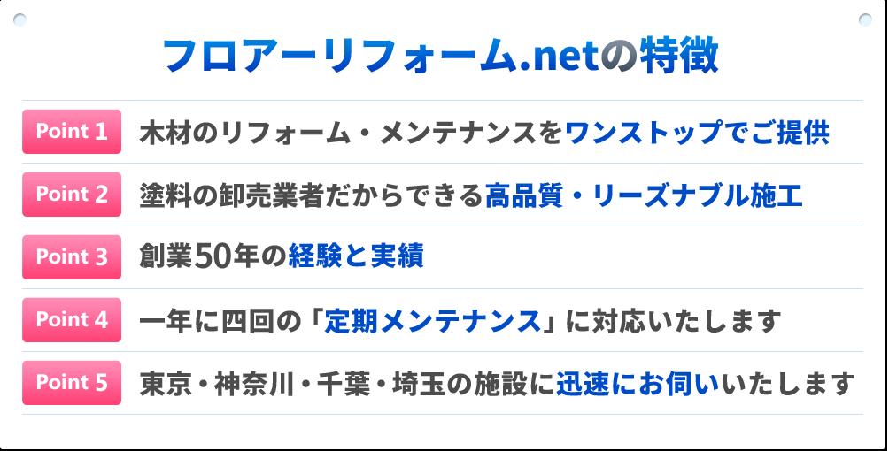 フロアーリフォーム.netの特徴